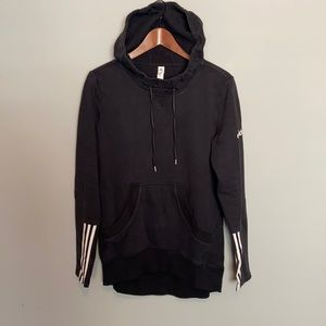 Adidas - Faded Black Long Pullover Hoodie